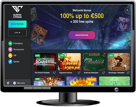 Buran Casino Website