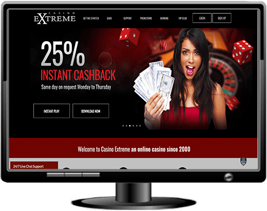 Casino Extreme Exclusive 55 No Deposit Cash Bonus