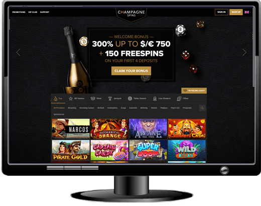Champagne Spins Casino Website