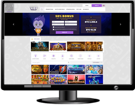 Crypto Wild Casino Website