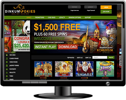 Dinkum Pokies Casino Website