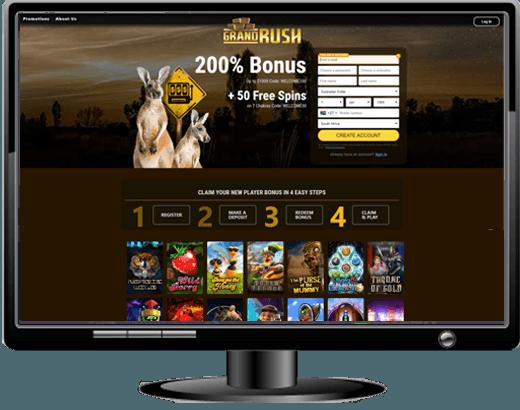 Grand Rush Casino - $1000 Sign Up Match Bonus