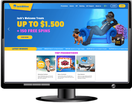 Jackmillion Casino Website