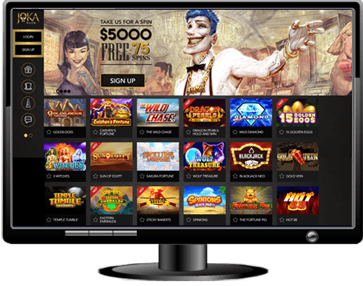 JokaRoom Casino Website