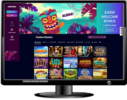 Kahuna Casino Website