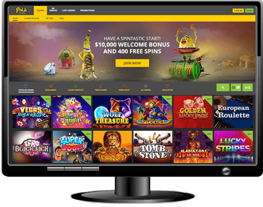 Pokie Spins Casino - $10000 Sign Up Match Bonus + 260 Free Spins