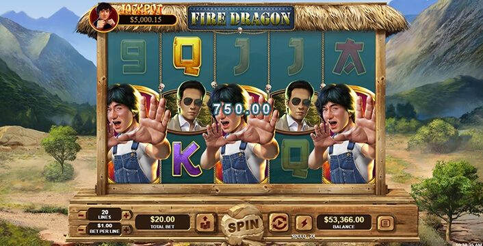 Fire Dragon Slot in play